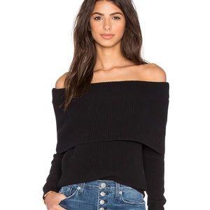 Lovers + friends off shoulder sweater